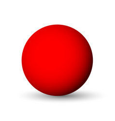 red sphere ball or orb 3d object with vector image vector image