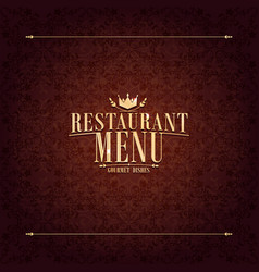 Restaurant menu design vintage card vector