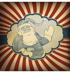 santa claus vintage vector image