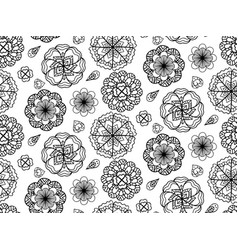 seamless black and white texture with doodle vector image