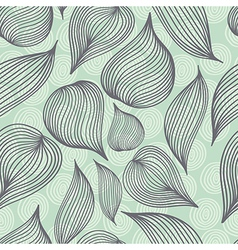 Seamless retro colored doodle background vector image vector image