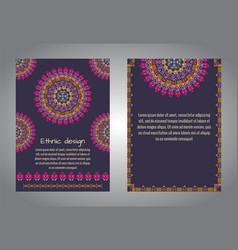 Set of flyer templates vector