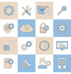 Settings icons flat line vector image
