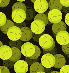 Tennis ball 3d seamless pattern sports accessory vector
