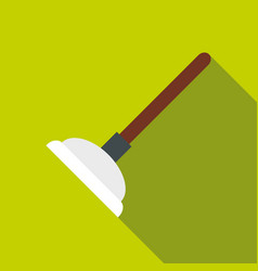 toilet plunger icon flat style vector image