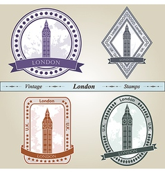 Vintage stamp london vector