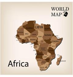 World map africa vector