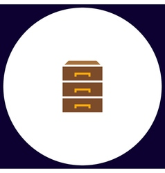 Drawer computer symbol vector