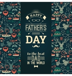 Happy father s day card in retro style vector