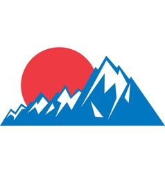 Mountain range logo vector image