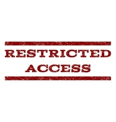 Restricted access watermark stamp vector