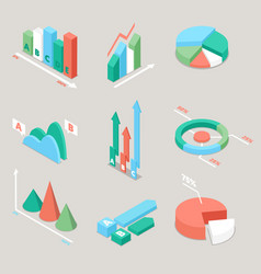 Chart and graphs statistics finance analysis vector