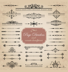 Page dividers and ornate headpieces vector