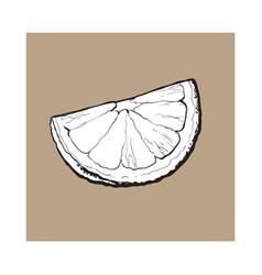 Quarter segment piece of ripe lime vector