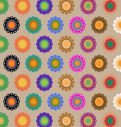 Create seamless folk flower pattern vector