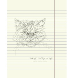 Hand drawing sketch cat vector