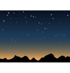 Dawn sky vector