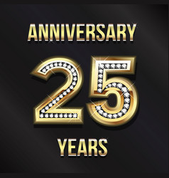 25 years anniversary card design design vector