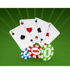 Cards and chips vector