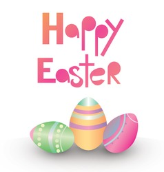 Easter card design vector