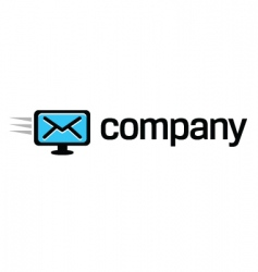 digital computer message logo vector image