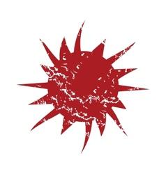 Red grunge sun logo vector image