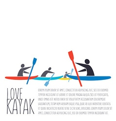 Flat design style with signature love kaya vector