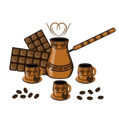 Coffee chocolate drinks vector