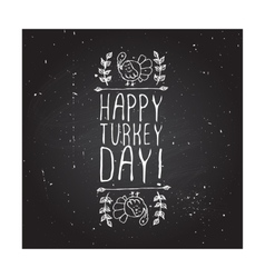 Happy turkey day - typographic element vector