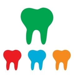 Tooth sign colorfull set vector