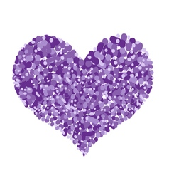 Abstract purple heart shape on a white background vector