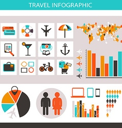Travel infographic with icons and elements vector