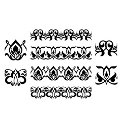 Floral embellishments and ornaments vector