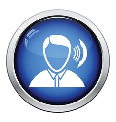 Businessman avatar making telephone call icon vector