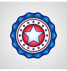 American Independence Day Holiday badge vector image