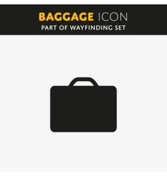 Baggage icon vector image