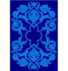 Blue artistic ottoman motif series vector