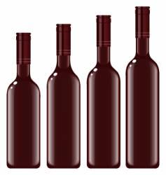 bottles wine vector image