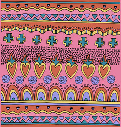 Bright colorful mexican seamless pattern vector