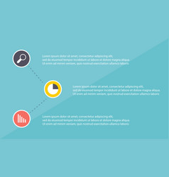 Business infographic step with icon concept vector