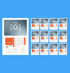 calendar template for 2017 year week starts vector image vector image