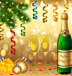 Christmas New Years Party vector image vector image