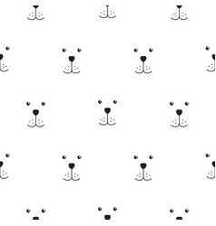 Dog muzzle scandinavian seamless simple vector