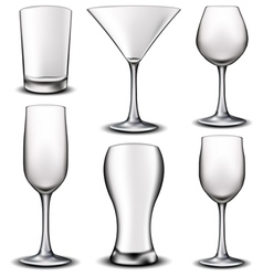 Empty glass set vector image