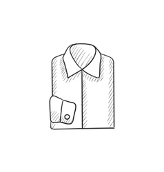 Folded male shirt sketch icon vector image