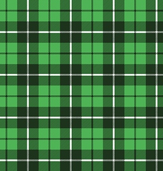 green tartan fabric texture pattern seamless vector image vector image