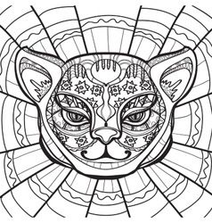 Hand drawn in zentangle style vector image vector image