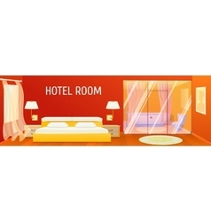 Hotel apartment interior template vector