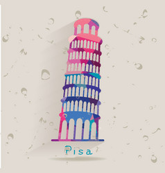 Leaning Tower of Pisa made of triangles vector image vector image