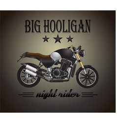 Motorcycle graphic banner 2 vector image